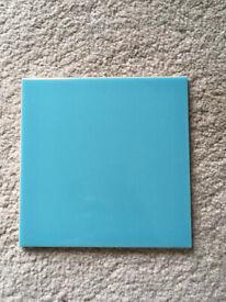 New 45 Ceramic Wall Tiles 15x15 Duck Egg Blue by Johnson