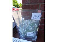 Glass Beads Vase - decorative ornamental