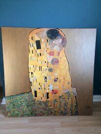 The kiss Gustav Klimt print on canvas