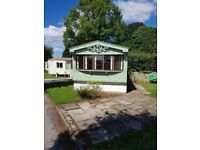 2 bed Static caravan for sale on Canalside pitch on stunning Lancashire park open all year