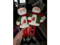 Matching snowmen and snowman ornament