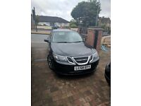 SAAB 9-3 VECTOR SPORT TID X2 2008 58 PLATE AND A 2007 07 PLATE BOTH IN BLACK