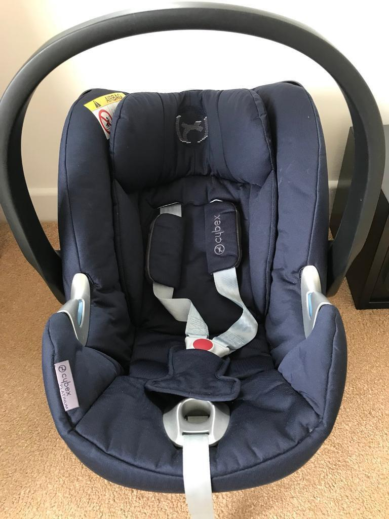 Cybex Aton Car Seat Platinum In Navy 6 Months Old Cost 250