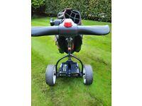 Motocaddy electric trolley and bag