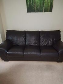 Leather used 3 seater and 2 chairs.