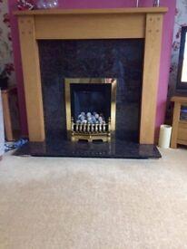 Inset coal effect gas fire