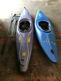 Two kayaks with accessories!