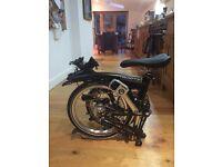 Brand New 2016 M6L Black Brompton folding bike & Bag