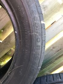 2qty 255/50 R19W Continental Contisport Contact Tyres