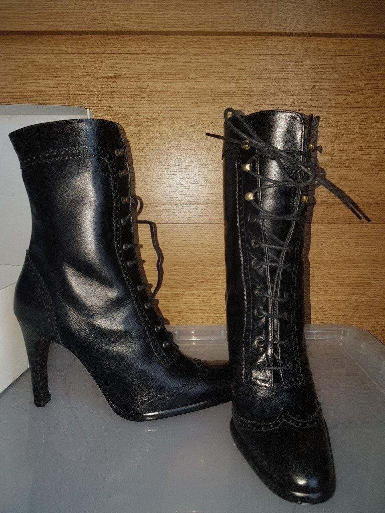 Unworn Ladies Lace-Up Boots from Schuh, Size 4