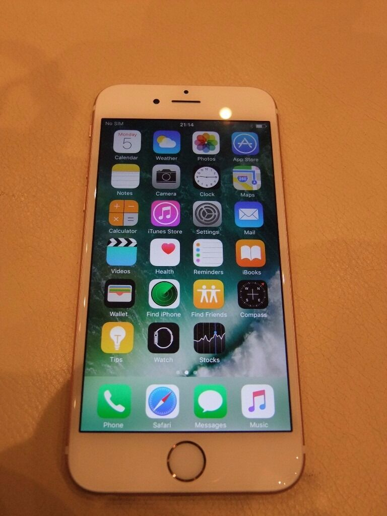 Iphone 6s used 16gb rose gold factory unlocked still on warrantyin Rayleigh, EssexGumtree - Hi to everyone. For sale used (still on warranty) Iphone 6s rose gold ,factory unlocked,16GB . Iphone been bought in Europe , so there is a different charger , althought will suply Genuine UK one from my another Iphone. Smartphone is in a very good...