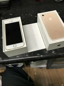 APPLE IPHONE 7 32GB GOLD COLOUR BRANDNEW WITH BOX ACCESSORIES