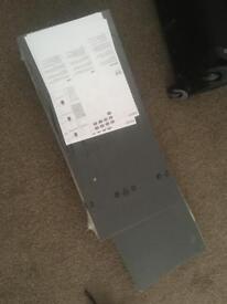 2 x Black IKEA floating shelves