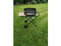 Charcoal Oval Black Trolley BBQ Outdoor Garden Patio Cooking Grill