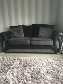 Pair of 2 seater DFS sofas