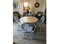 Solid Wood Round Extending Table and Four chairs - Available Separately