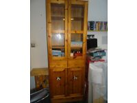 olid Pine Linen / China / Book Cupboard, 2 part, glazed display section, IKEA