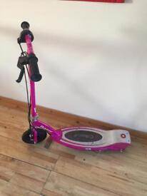 Razor electric pink scooter and charger