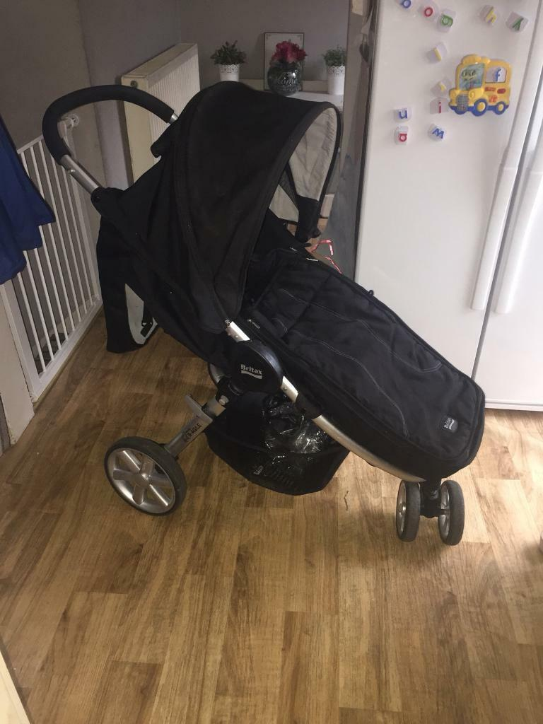 Britax b agile black pram pushchair