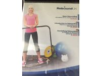 Fitness trampoline with fitness dvd