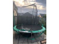 Free 10 foot Used Trampoline with damaged net.