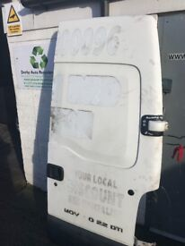2002 to 2008 Vauxhall Movano master o/s Drivers side rear door L WB hightop