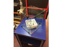 Toughened Glass Display Cubes