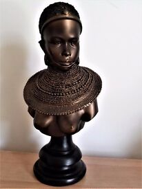 MASAI WOMAN BUST LEONARDO COLLECTION 28cm high approx.