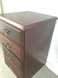 Stag bedside 4 drawers /cabinet/ table.Matching items also available.