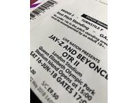 1 x Standing ticket for Beyonce & Jay Z tonight (Sat) at London Stadium