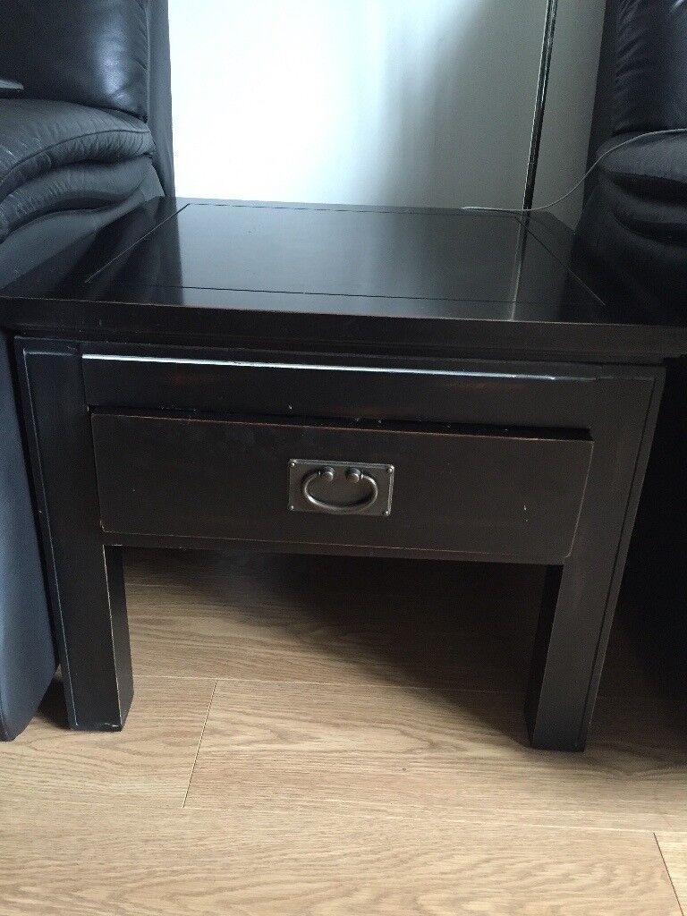 Ebony Bedside Table or Living Room Side Table