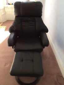 Leather electric chair and foot stool
