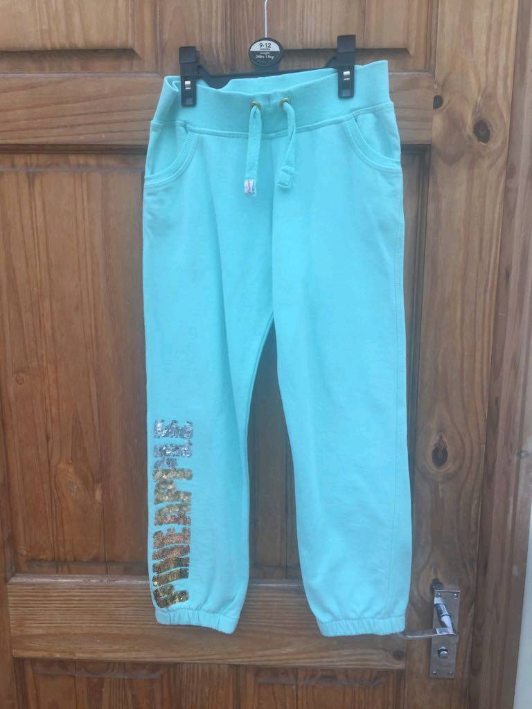 Girls mint green joggers by pineapple