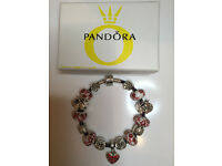 pandora genuine bracelet with europeon charms 925 in the clasp