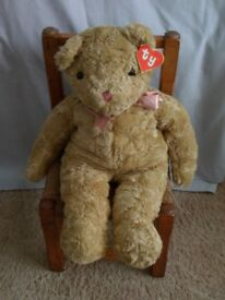 TY retired Rumples bear with chair we go together