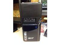 ACER COMPUTER BASE , AMD Phenom(tm) 9150 Quad-core Processor 1.80 GHz, 140 gb Hd, 3 Gb Ram, DVD/CW,