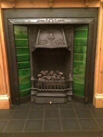 victorian fireplace, surround,hearth & fire