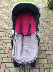 ICandy Peach Stroller & Maxi Cosi car seat with Isofix base