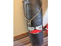 large punch bag and wall bracket brand new