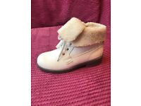 ladies white ankle boots