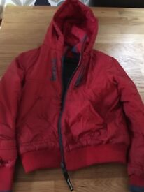 Boys red bench coat ages 5 to 6