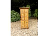 Barker & Stonehouse Flagstone 10 Drawer Storage Apothecary Chest