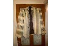 vintage style faux fur coat