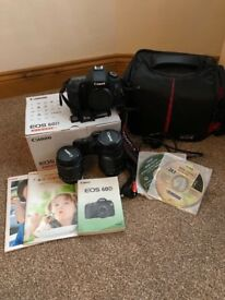 Canon 60d DSLR with 2 lens