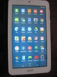 """ACER ICONIA Tablet. 7"""" Touch Screen Display. Wifi. Quad Core, 16GB, Dual Camera. Android. Bluetooth. GPS. Stereo Speaker"""