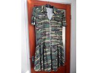 Fancy Dress Army Dress with Silver like Dog Tag Necklace Size 22/24