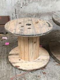 Small Wooden cable reel, great for garden furniture