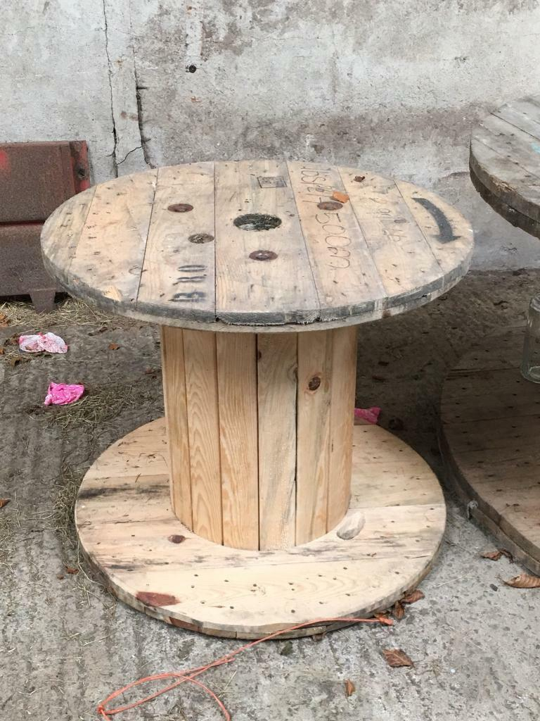 Small Wooden Cable Reel Great For Garden Furniture In