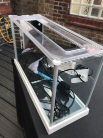 Fluval Spec Fish Tank 19L - White (with aquarium extras)