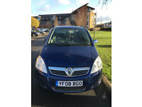 2008 Vauxhall Zafira 1.6 Exclusiv 7 Seater Blue Alloys